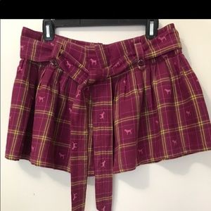 Victoria's Secret Pink Plaid Mini Skirt